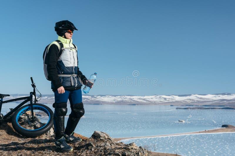 Fatbike gruby rower lub opona rower fotografia royalty free