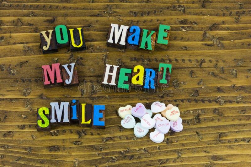 Fate il mio cuore sorridere fotografie stock