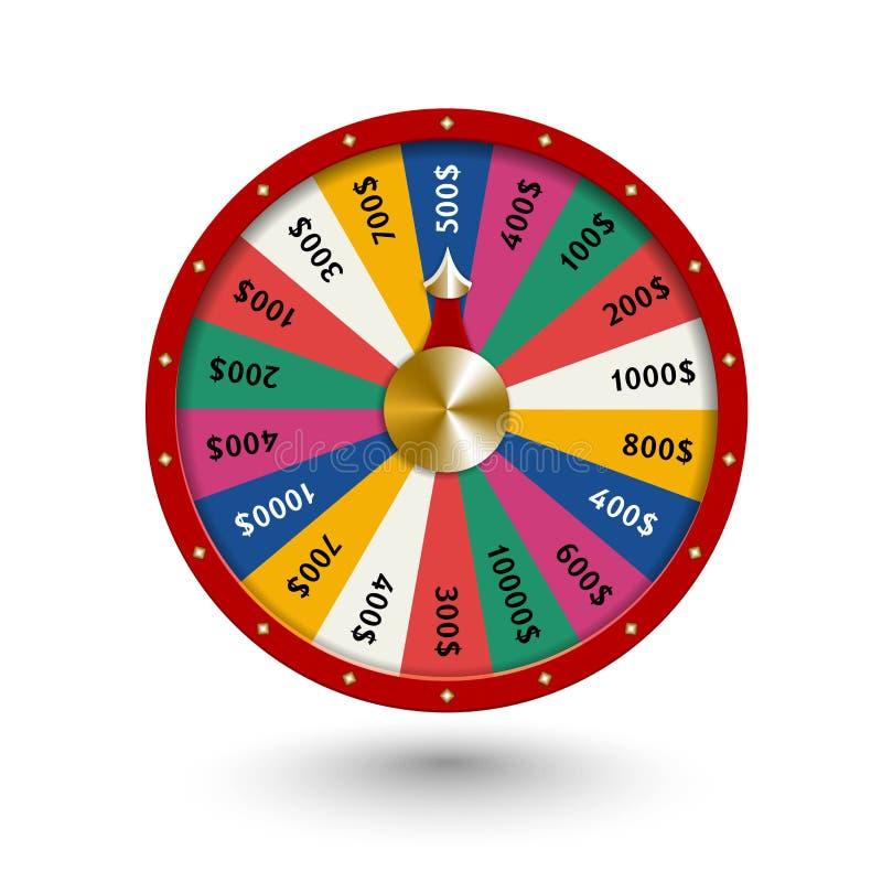 Fate wheel, 3D roulette illustration. stock illustration