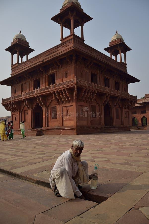 Fatehpur Sikri, Agra, India - 21 de octubre de 2018: Diwan-i-Khas, o pabellón de audiencias privadas foto de archivo