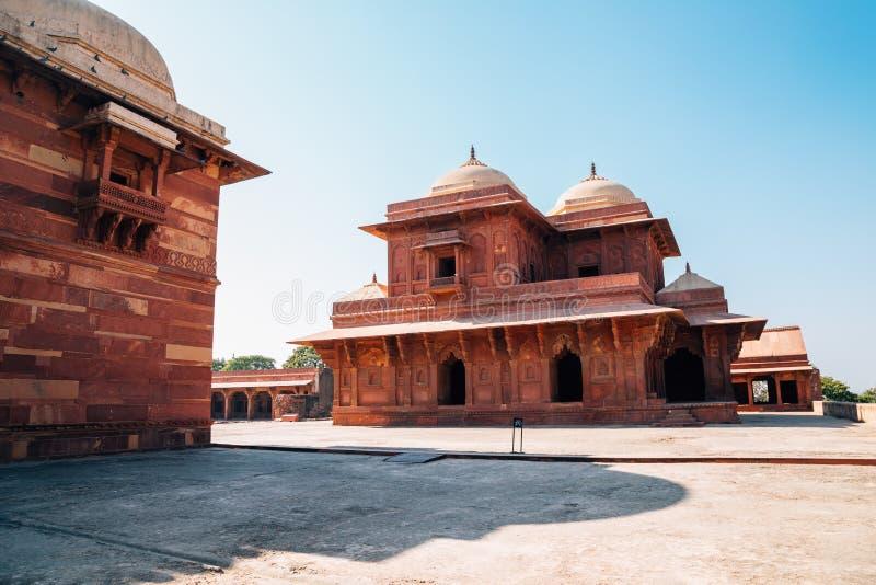 Fatehpur Sikri antyczne ruiny w India obrazy stock