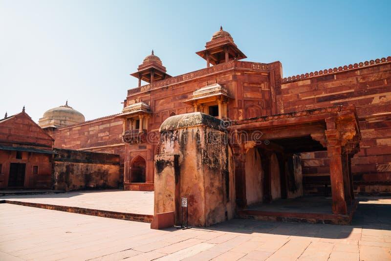 Fatehpur Sikri antyczne ruiny w India fotografia stock
