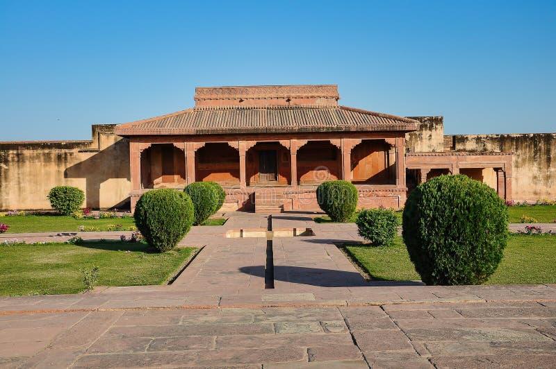 Fatehpur Sikri, la India, construida por el emperador Akbar de Mughal foto de archivo