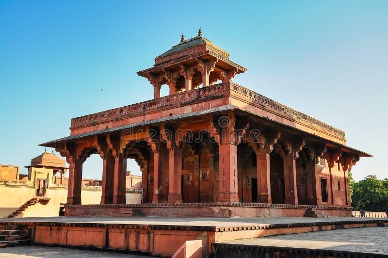 Fatehpur Sikri, la India, construida por el emperador Akbar de Mughal imagen de archivo libre de regalías