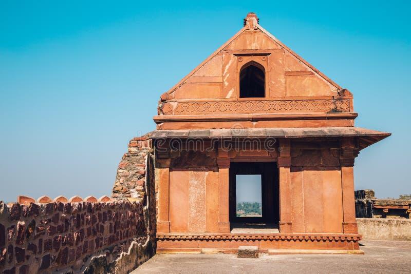 Fatehpur Sikri UNESCO światowego dziedzictwa miejsce, antyczne ruiny w India zdjęcie stock