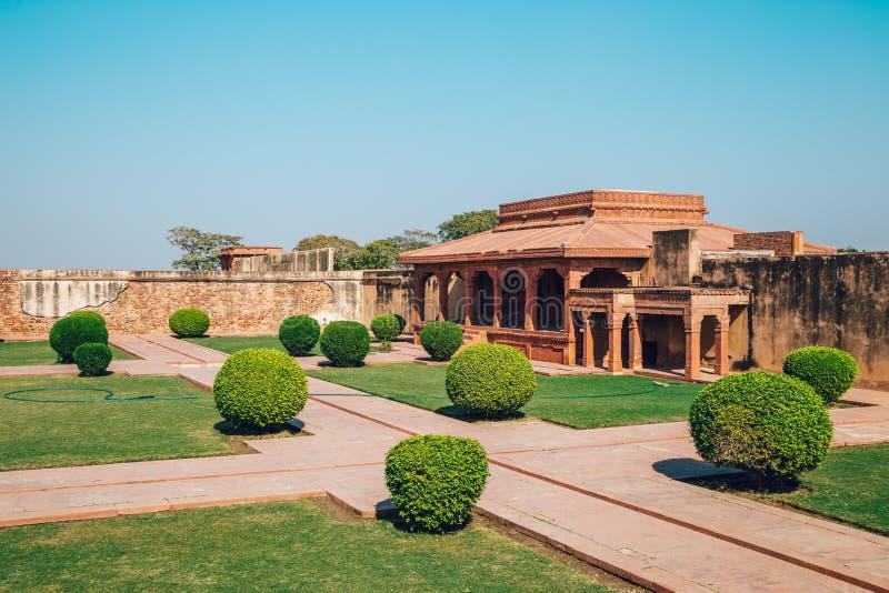 Fatehpur Sikri UNESCO światowego dziedzictwa miejsce, antyczne ruiny w India zdjęcia royalty free