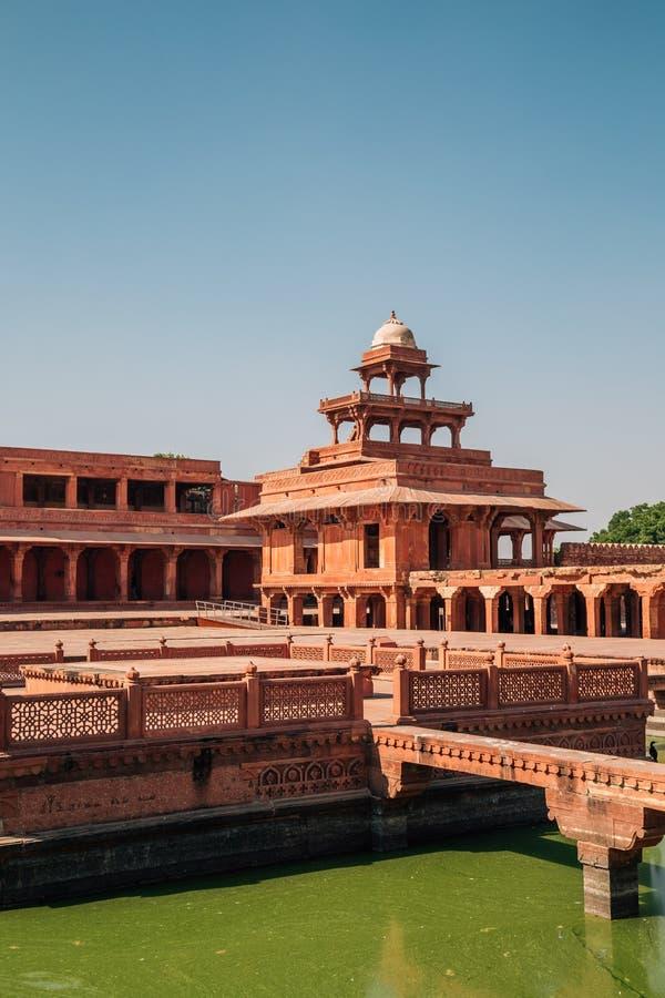 Fatehpur Sikri UNESCO światowego dziedzictwa miejsce, antyczne ruiny w India fotografia royalty free