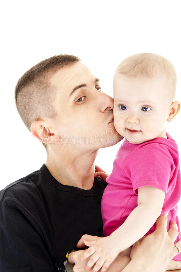 Download Fathe and baby stock image. Image of caucasian, beautiful - 24981957