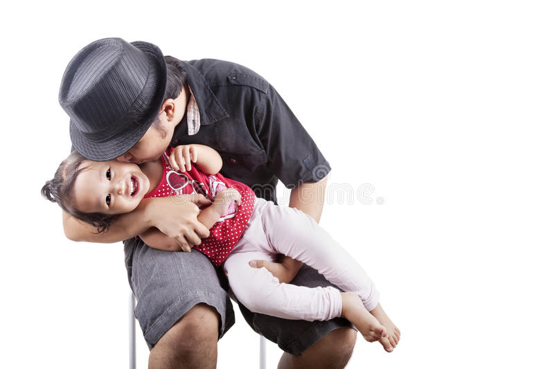 Download Father affection stock image. Image of cute, baby, daughter - 25508633