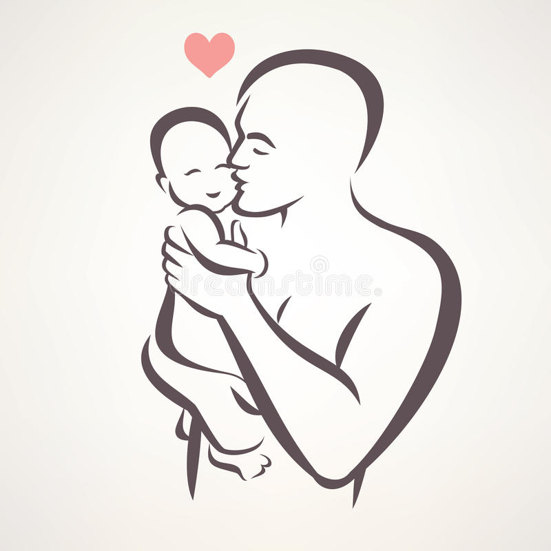 Free Father And Baby Royalty Free Stock Image - 65896736