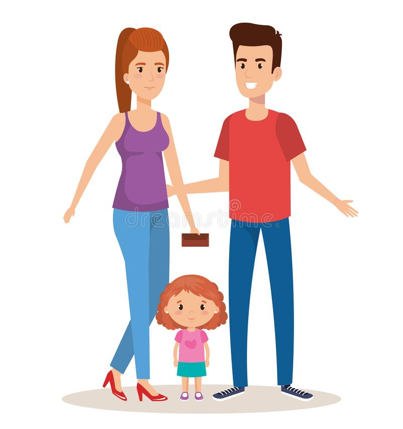 Free Father And Mother With Daughter Royalty Free Stock Photography - 117844067