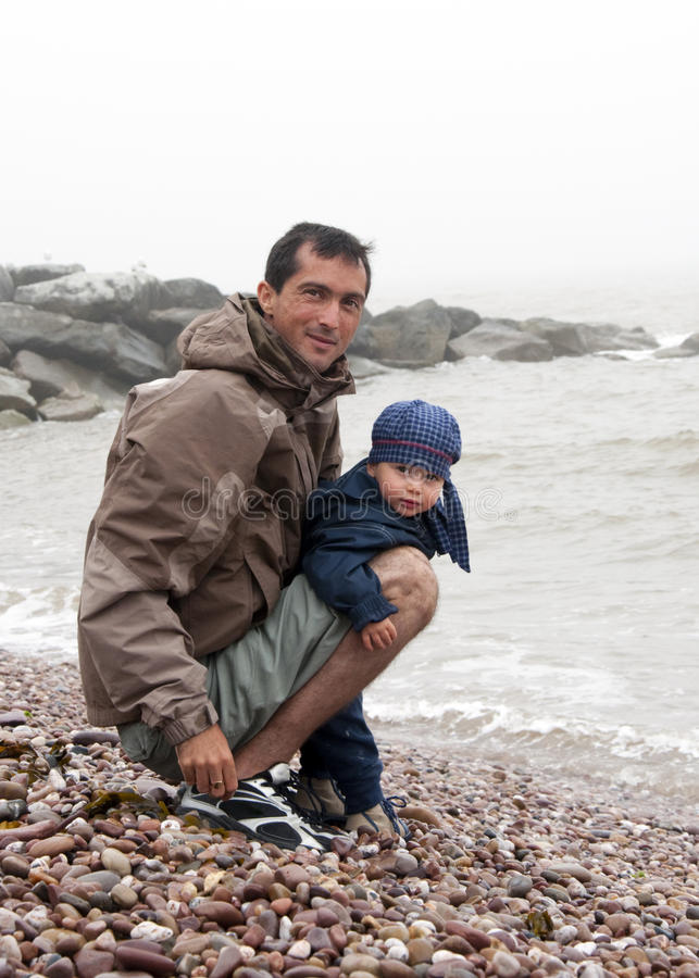 Free Father And Son On A Beach Royalty Free Stock Photos - 15368198