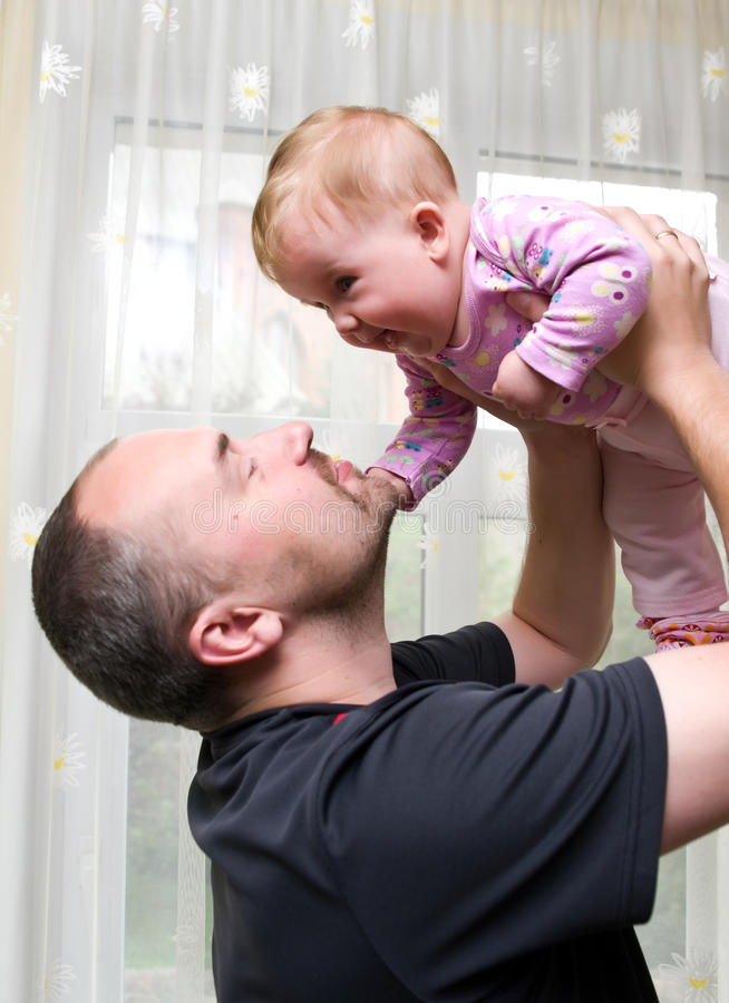 Father with baby daughter royalty free stock image