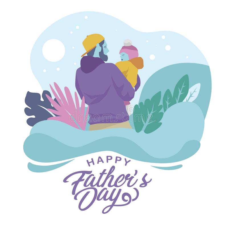 Father and baby Illustration Vector vector illustration