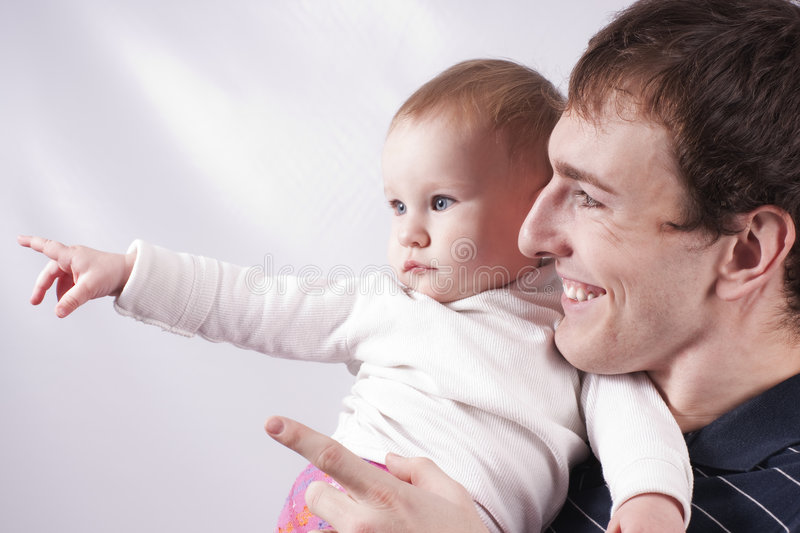 Father and child stock photography