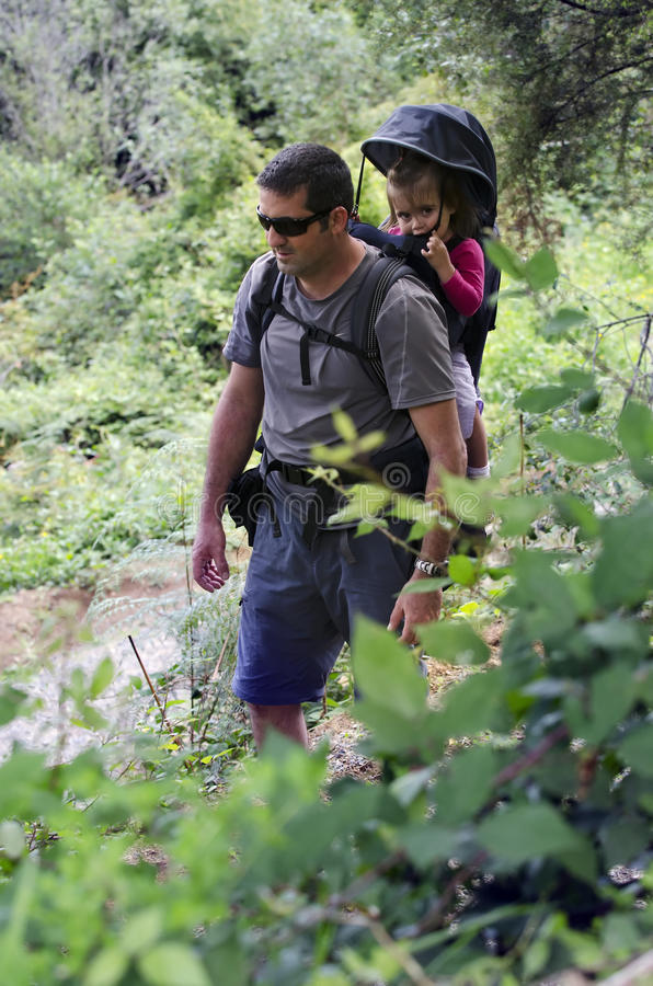 Download Father and Child Hiking stock image. Image of nature - 23369491