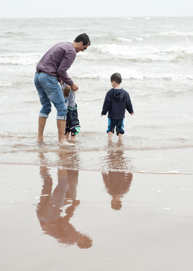 Father and children stock photos