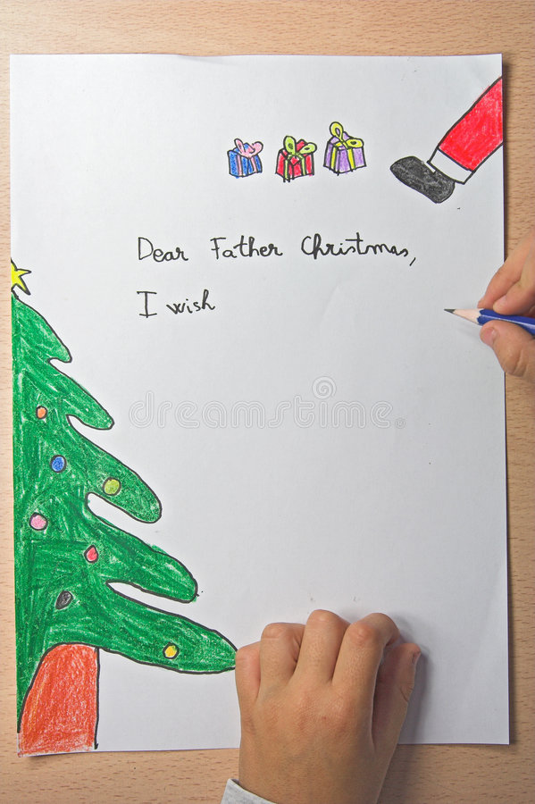 Download Father christmas letter stock illustration. Image of wrote - 1493537