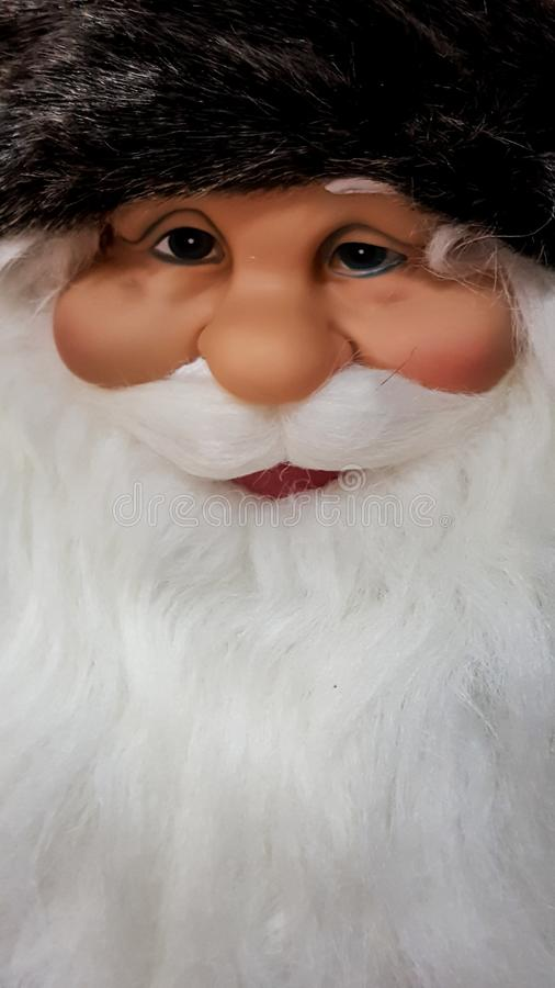 Father Christmas mannequin with a happy look on his face stock image