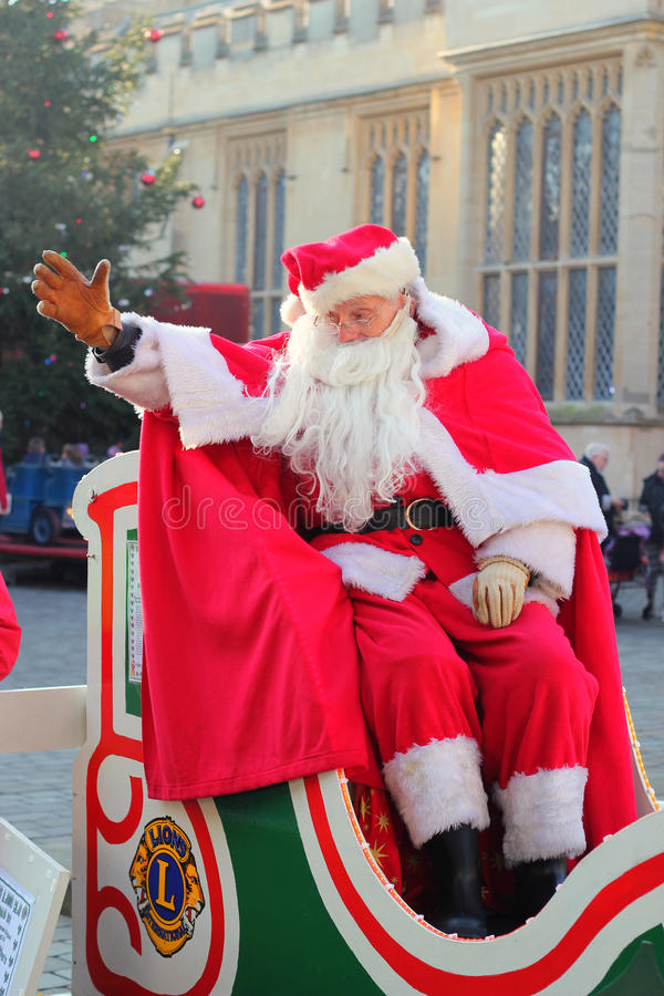 Download Father Christmas Or Santa Claus Waving. Editorial Stock Photo - Image: 28094428