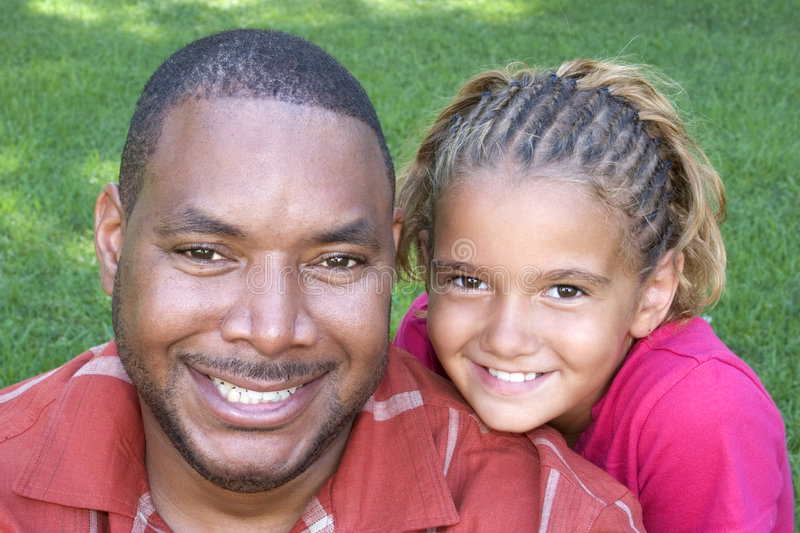 Download Father Daughter stock photo. Image of parent, black, smile - 1022226