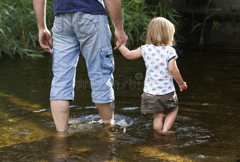 Father and daughter royalty free stock images