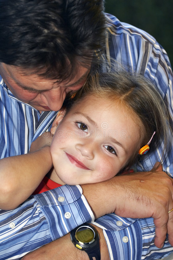 Download Father and daughter stock photo. Image of kiss, person - 1412082