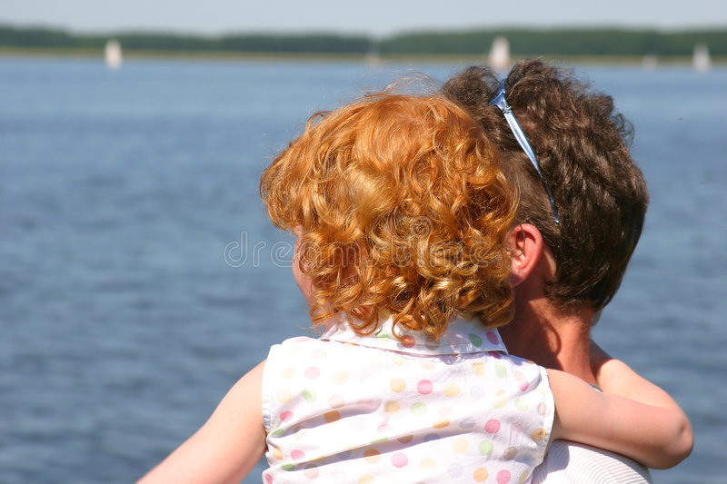Download Father and daughter stock photo. Image of backside, redhaired - 162294