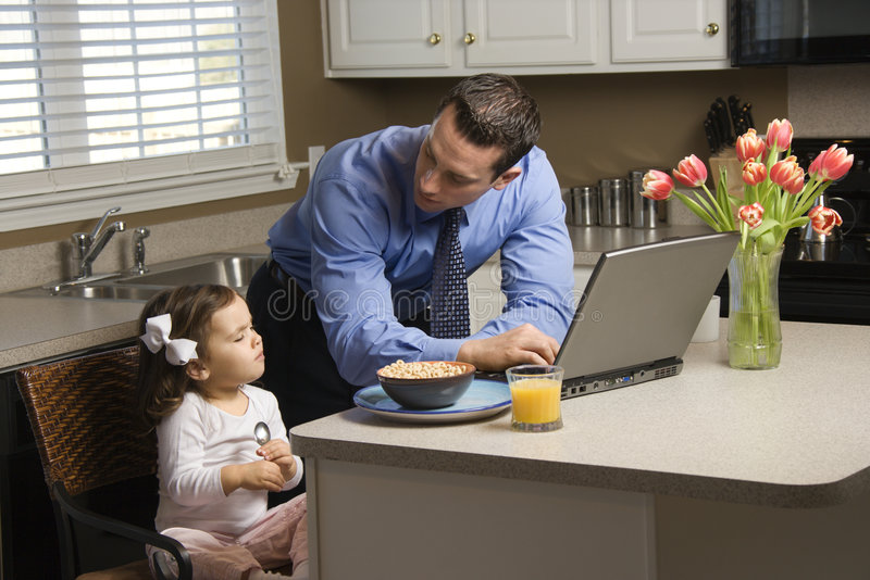 Father with daughter. stock images