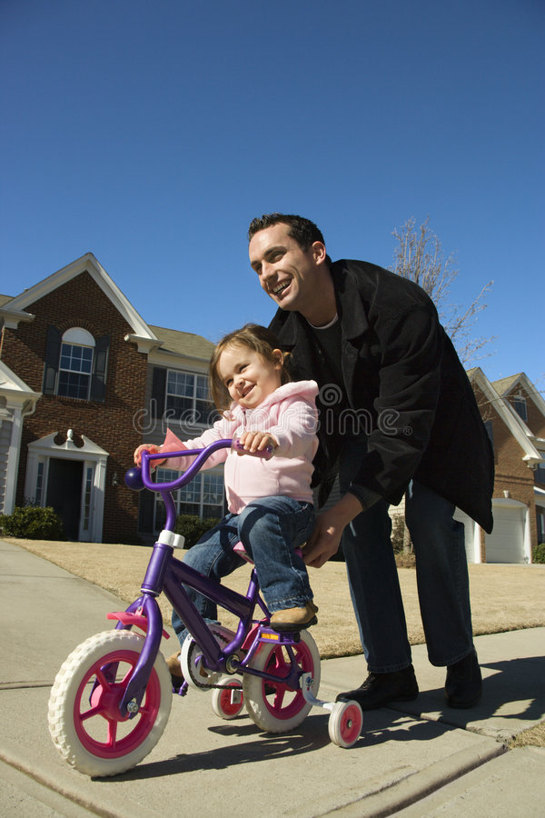 Father and daughter. stock image