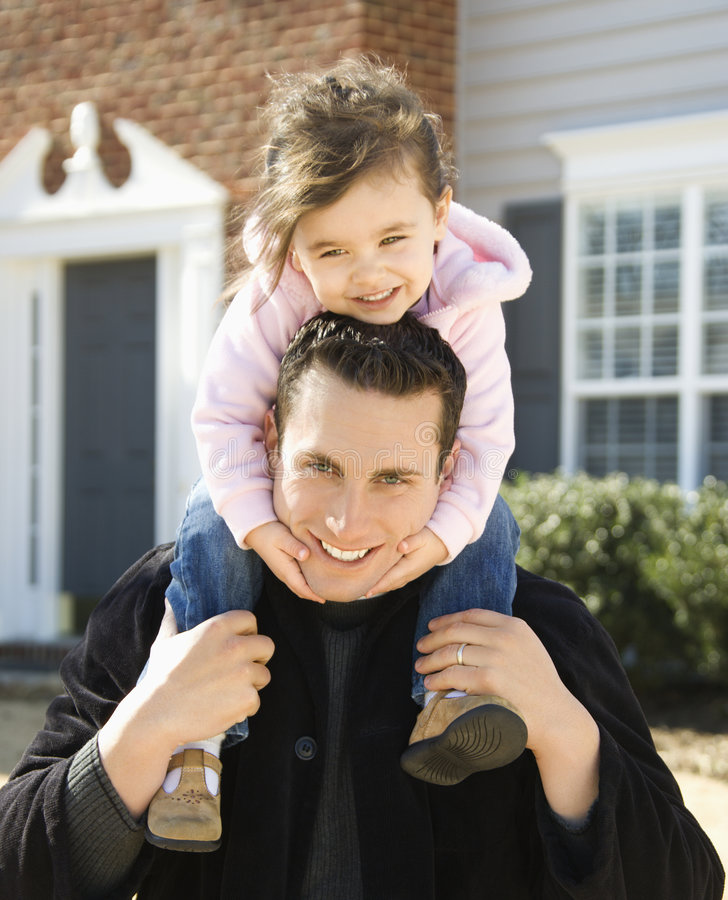 Father and daughter. royalty free stock photo