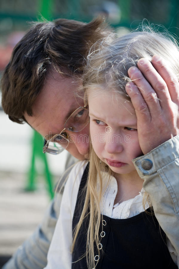 Download Father and daughter stock image. Image of comfort, eyewater - 25251545