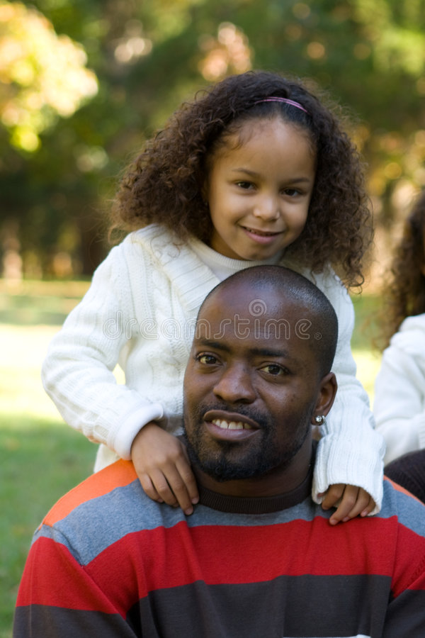 A father and daughter royalty free stock photography