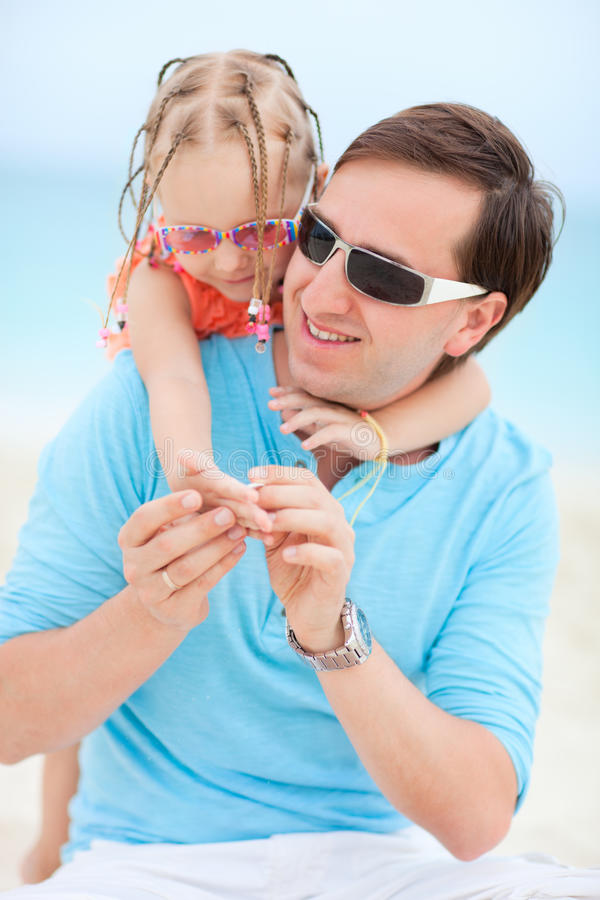 Download Father And Daughter At Beach Stock Images - Image: 24812584