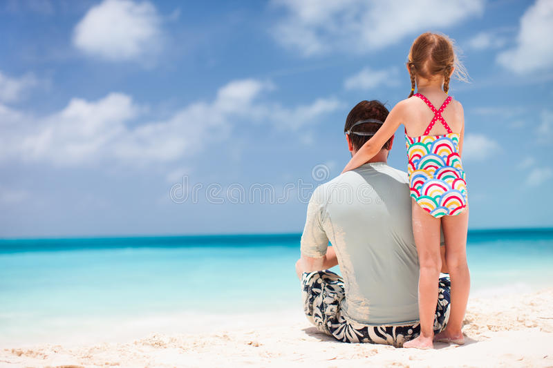 Download Father And Daughter At Beach Stock Photo - Image: 34176230