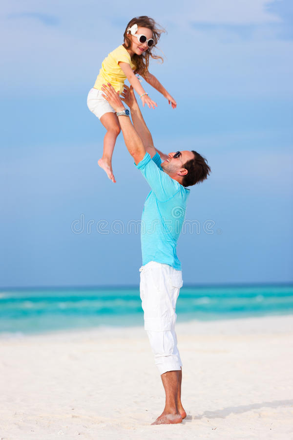 Download Father And Daughter At Beach Stock Image - Image: 40163559