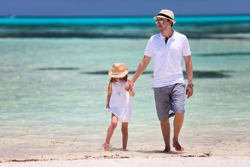 Download Father And Daughter At Beach Stock Photo - Image: 40163944