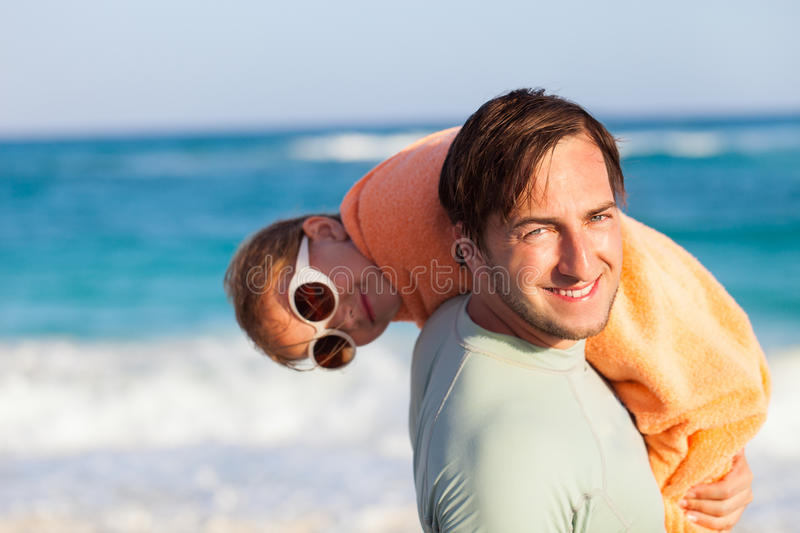 Download Father And Daughter At Beach Stock Photo - Image: 34175510