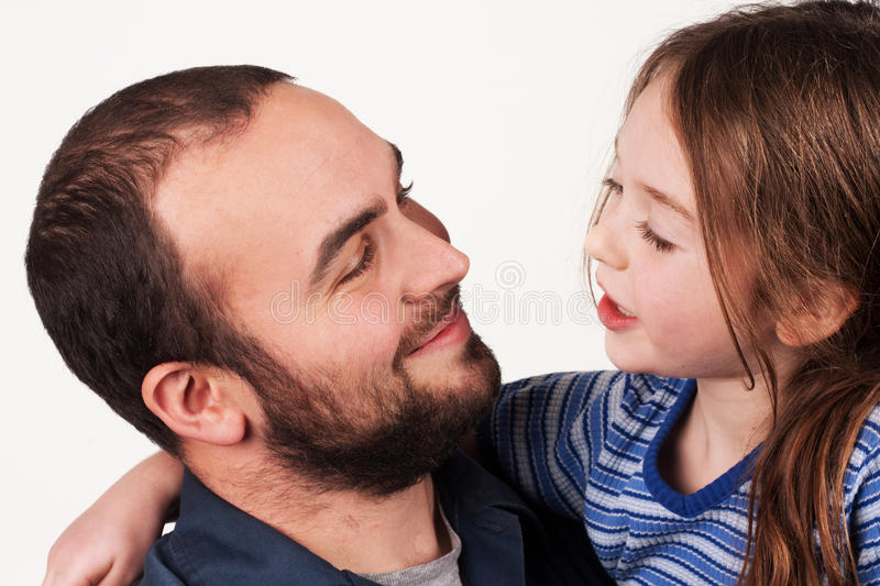 Father Daughter Chat stock photos