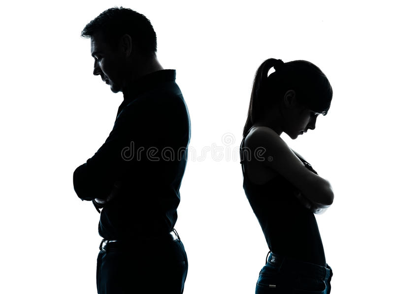 Father daughter dispute conflict royalty free stock photo