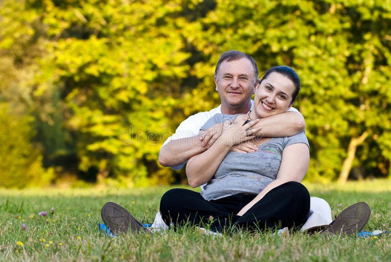 Download Father And Daughter On Grass Stock Image - Image: 19846053