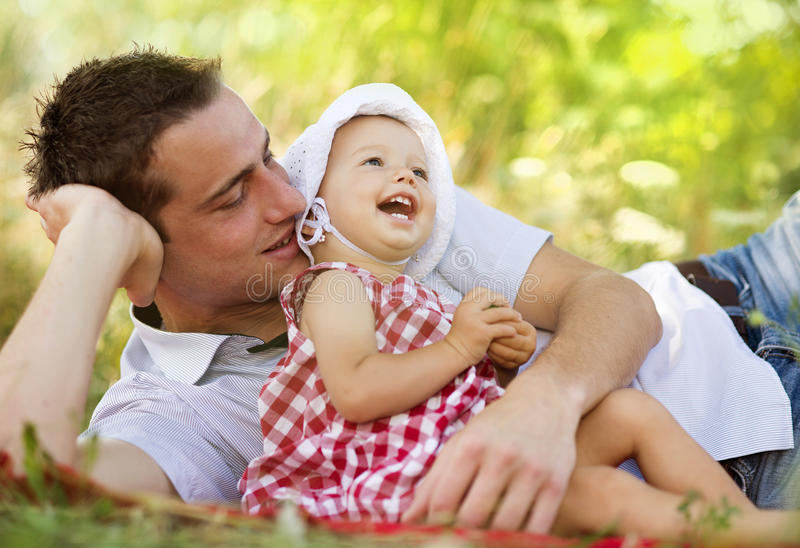 Download Father and daughter stock photo. Image of hands, happy - 34054146