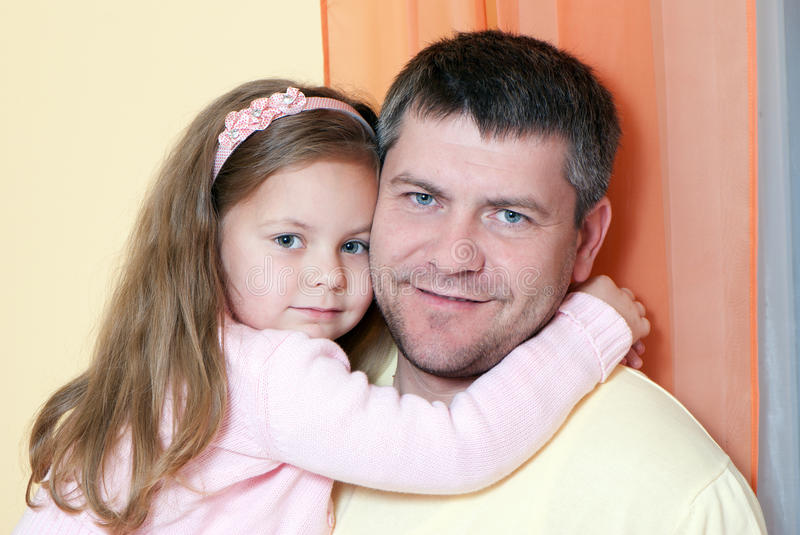 Father And Daughter At Home Royalty Free Stock Image