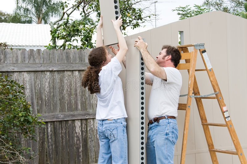 Father Daughter Home Improvement royalty free stock images