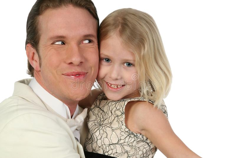 Father and daughter Hug stock image