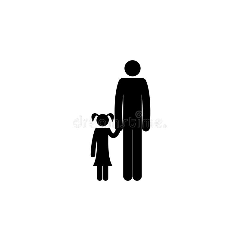 father with daughter icon. Element of travel icon for mobile concept and web apps. Thin line father with daughter icon can be used vector illustration