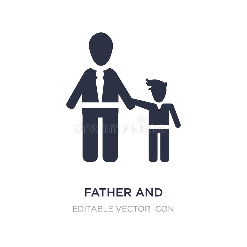 Father and daughter icon on white background. Simple element illustration from People concept. Father and daughter icon symbol design stock illustration