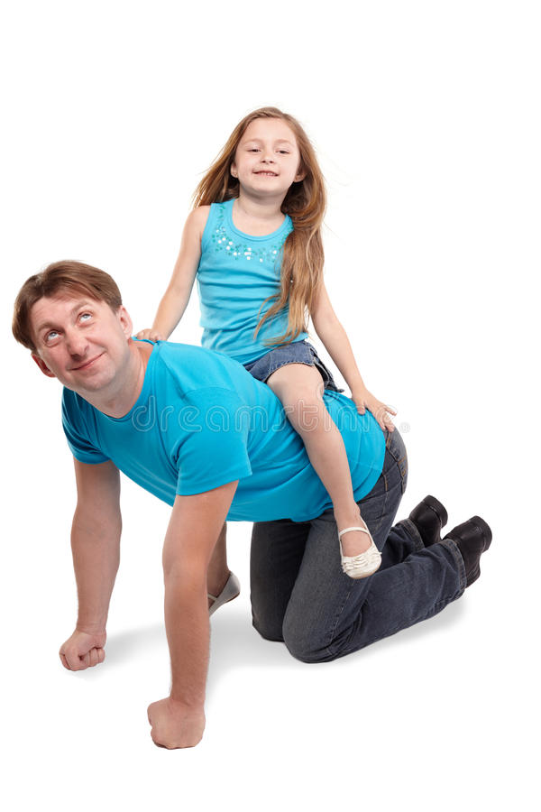 Download Father And Daughter Play Horse-ride Stock Photo - Image: 26281922