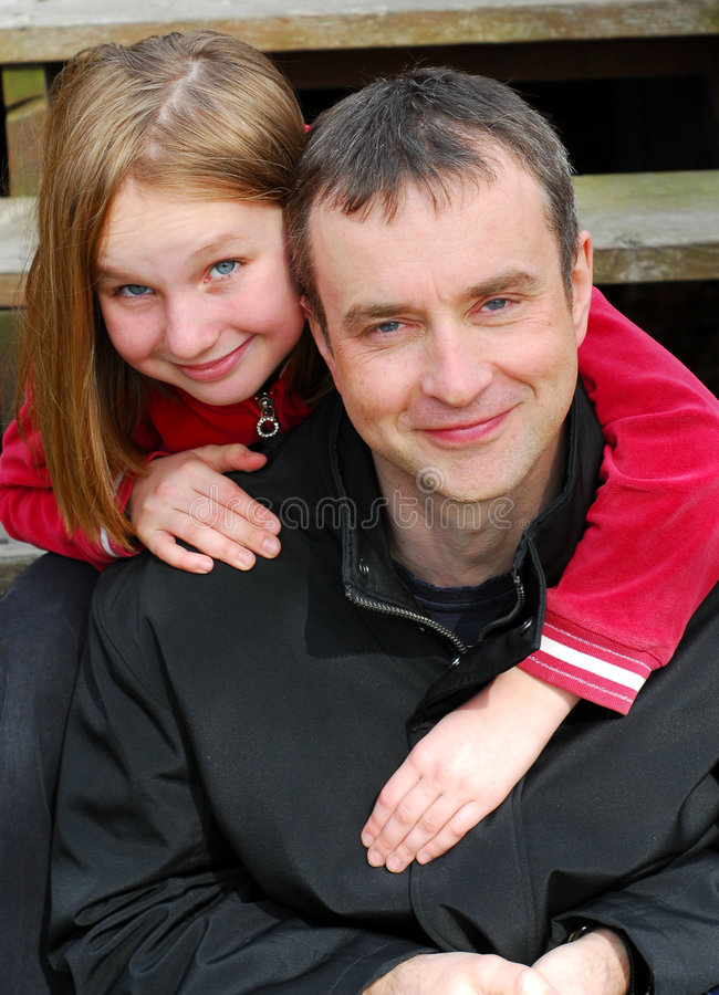Father daughter portrait stock image
