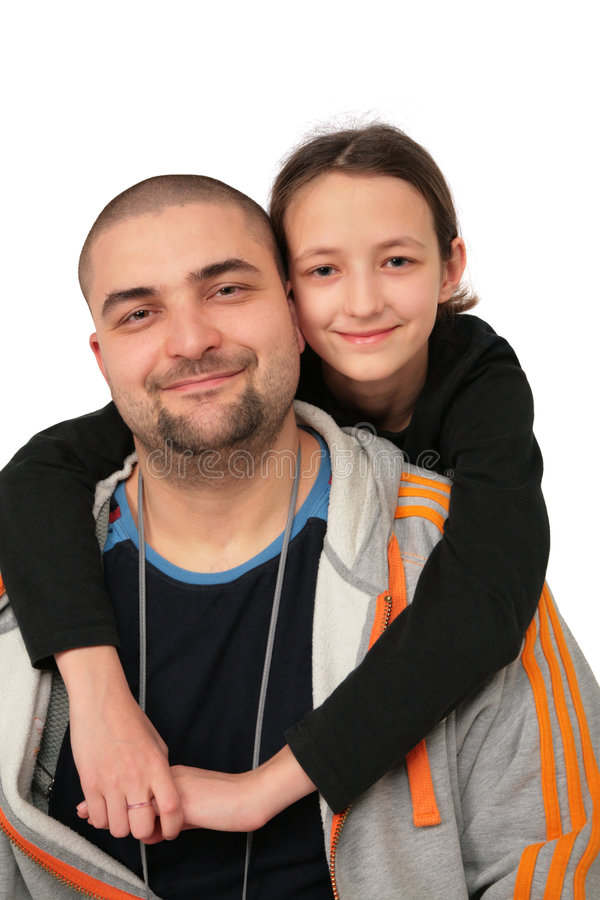 Download Father With Daughter Posing Stock Photo - Image: 4578276